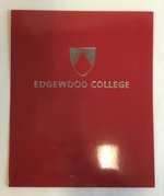Edgewood College Laminated Folder