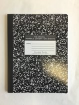 Black Marble Composition Notebook