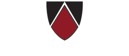 Edgewood College Logo, red and black shield